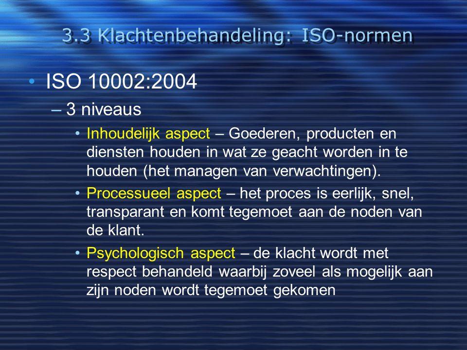 3.3 Klachtenbehandeling: ISO-normen