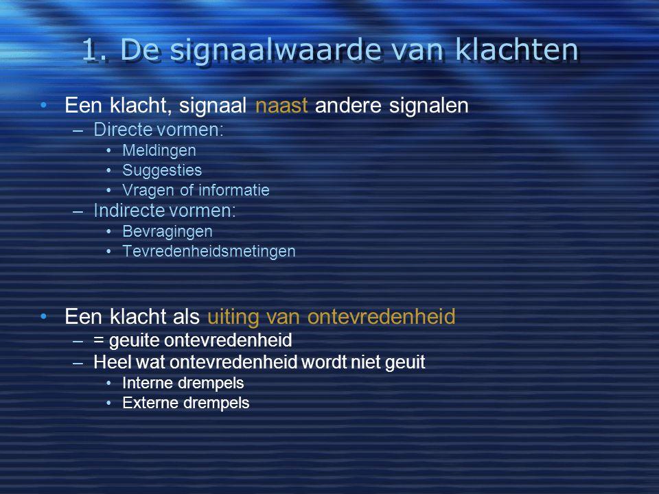 1. De signaalwaarde van klachten