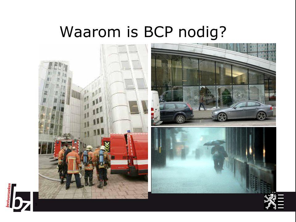 Waarom is BCP nodig