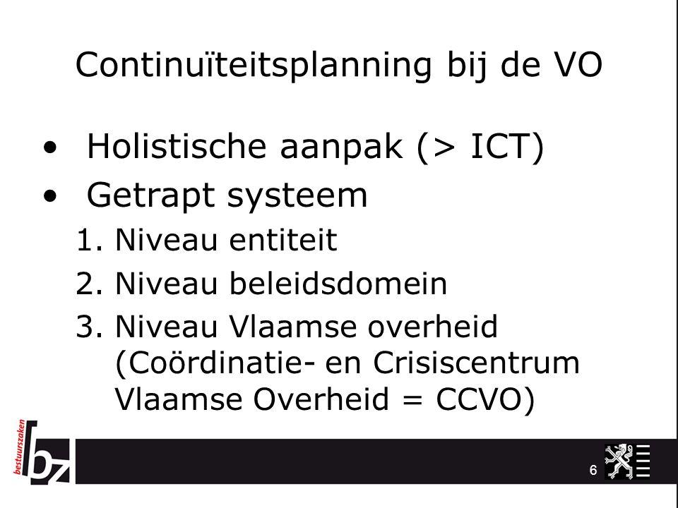 Continuïteitsplanning bij de VO