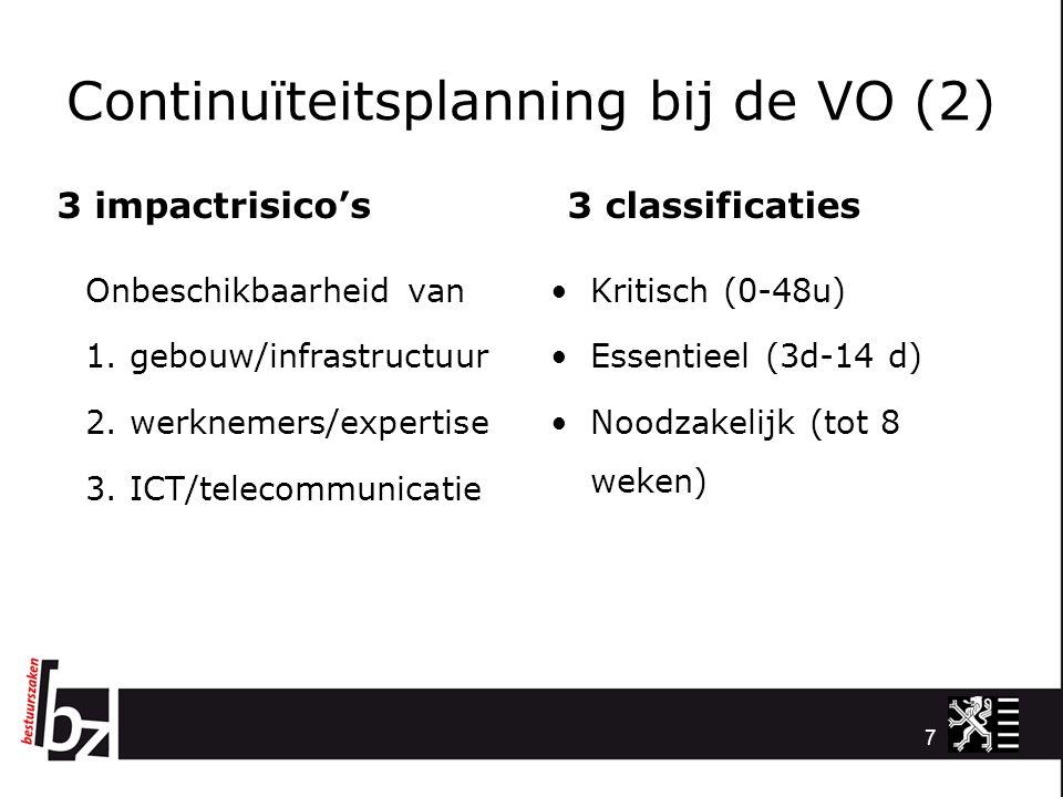 Continuïteitsplanning bij de VO (2)