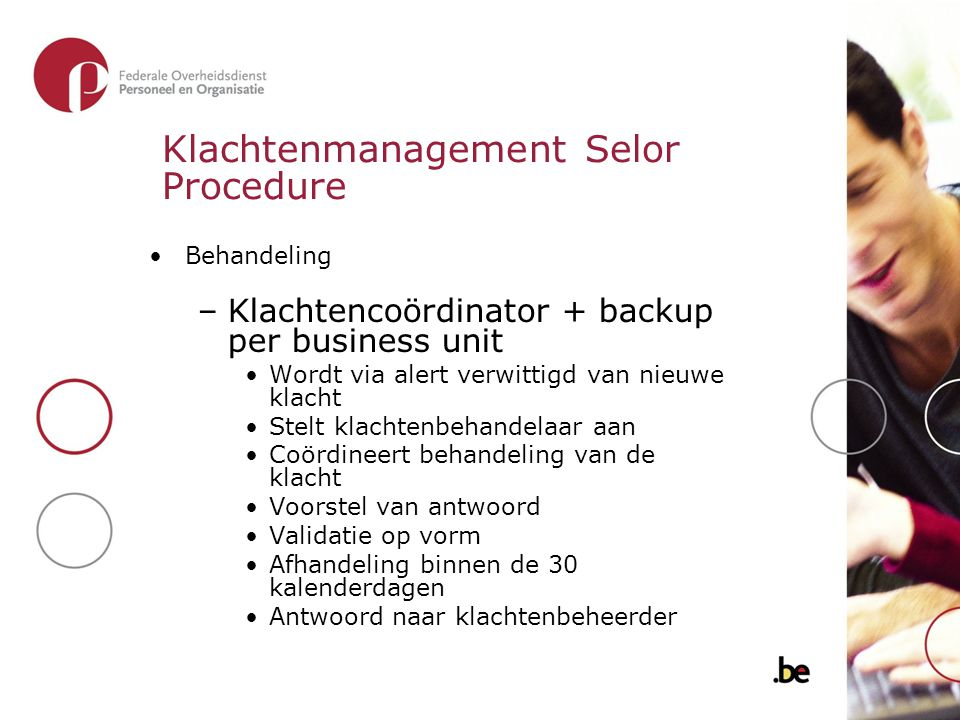 Klachtenmanagement Selor Procedure
