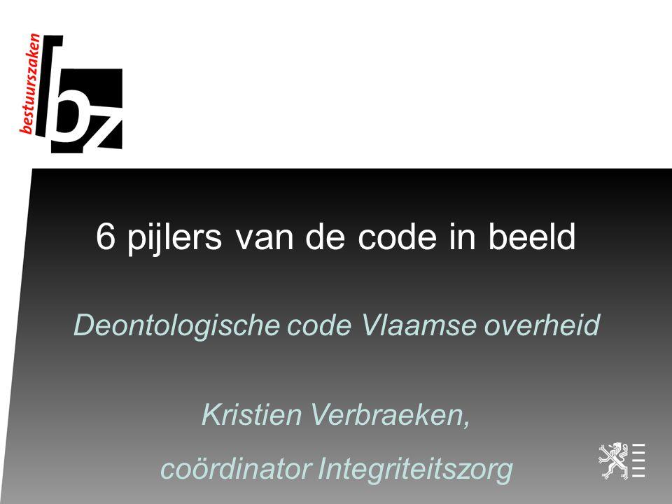 6 pijlers van de code in beeld