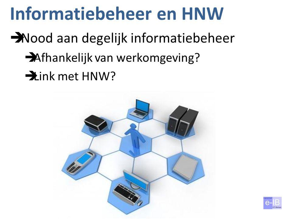 Informatiebeheer en HNW