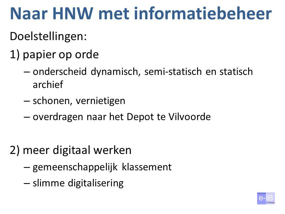 Naar HNW met informatiebeheer
