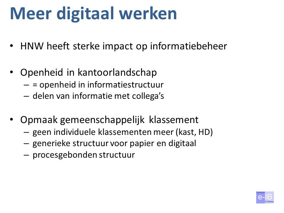 Meer digitaal werken HNW heeft sterke impact op informatiebeheer