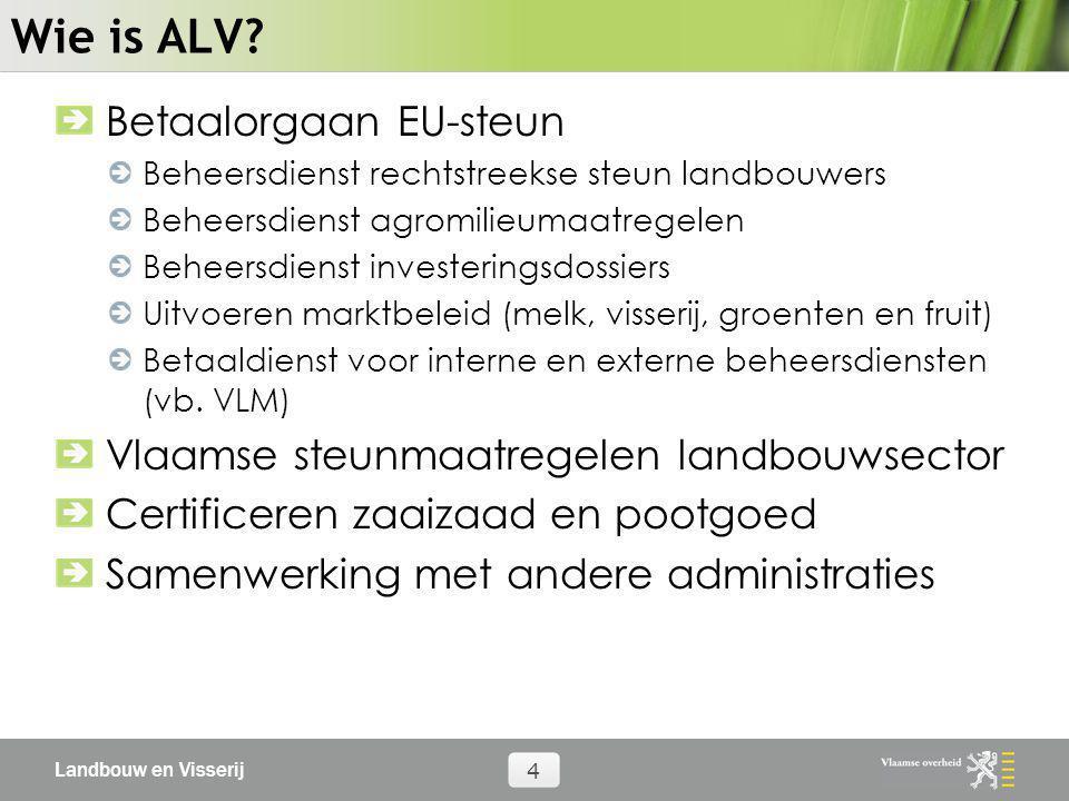Wie is ALV Betaalorgaan EU-steun