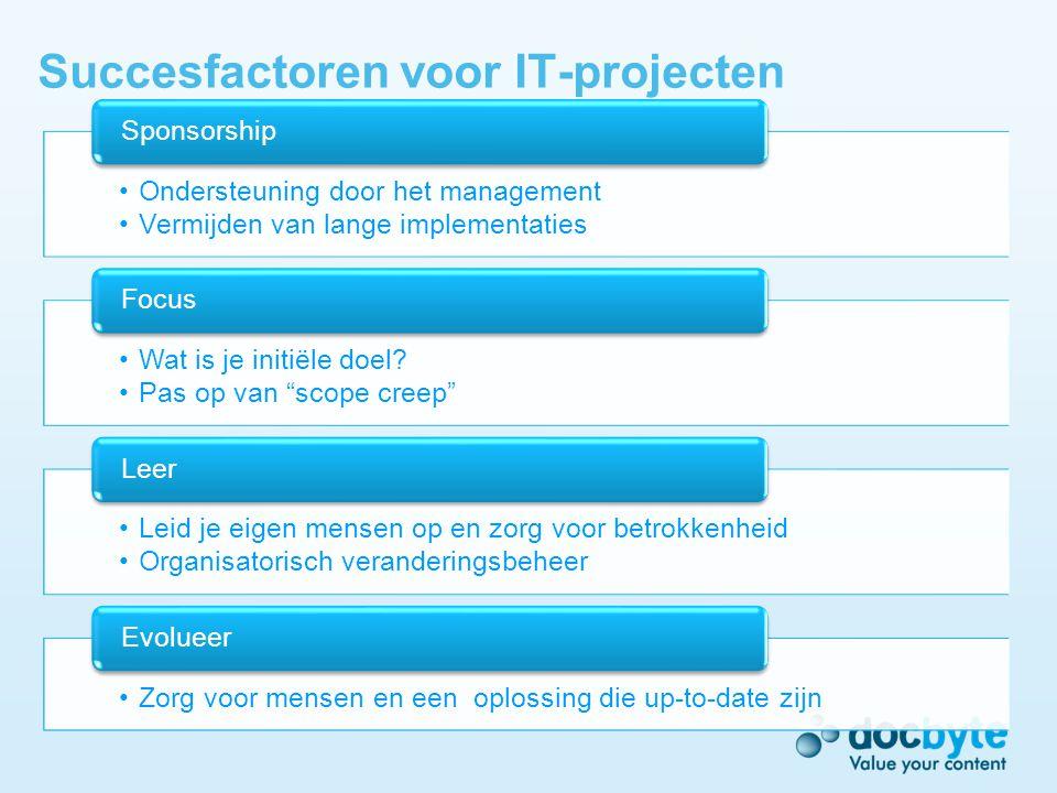 Succesfactoren voor IT-projecten