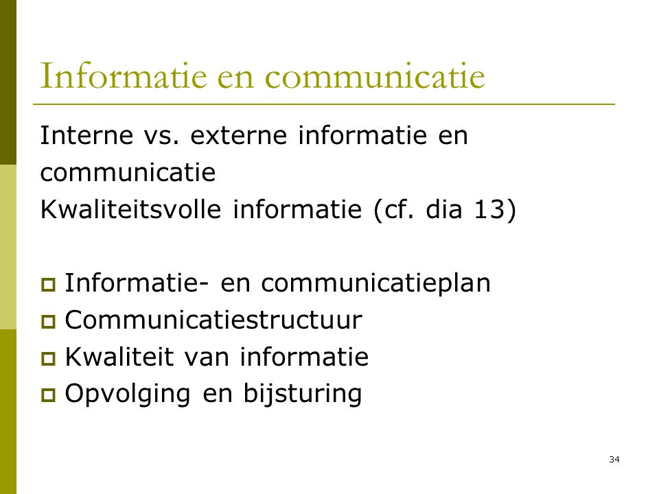 Informatie en communicatie