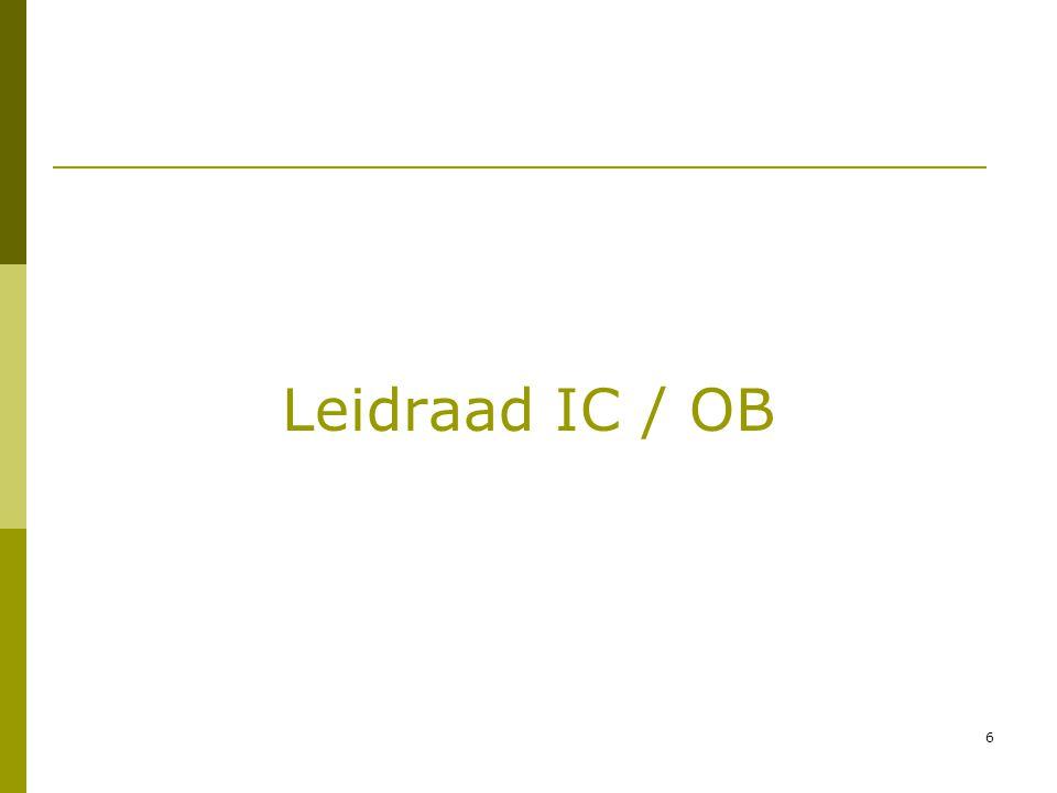 Leidraad IC / OB