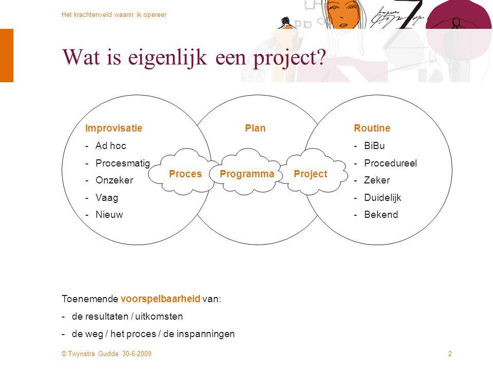 Wat is eigenlijk een project
