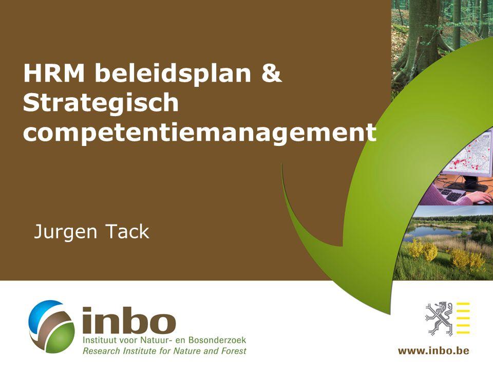 HRM beleidsplan & Strategisch competentiemanagement
