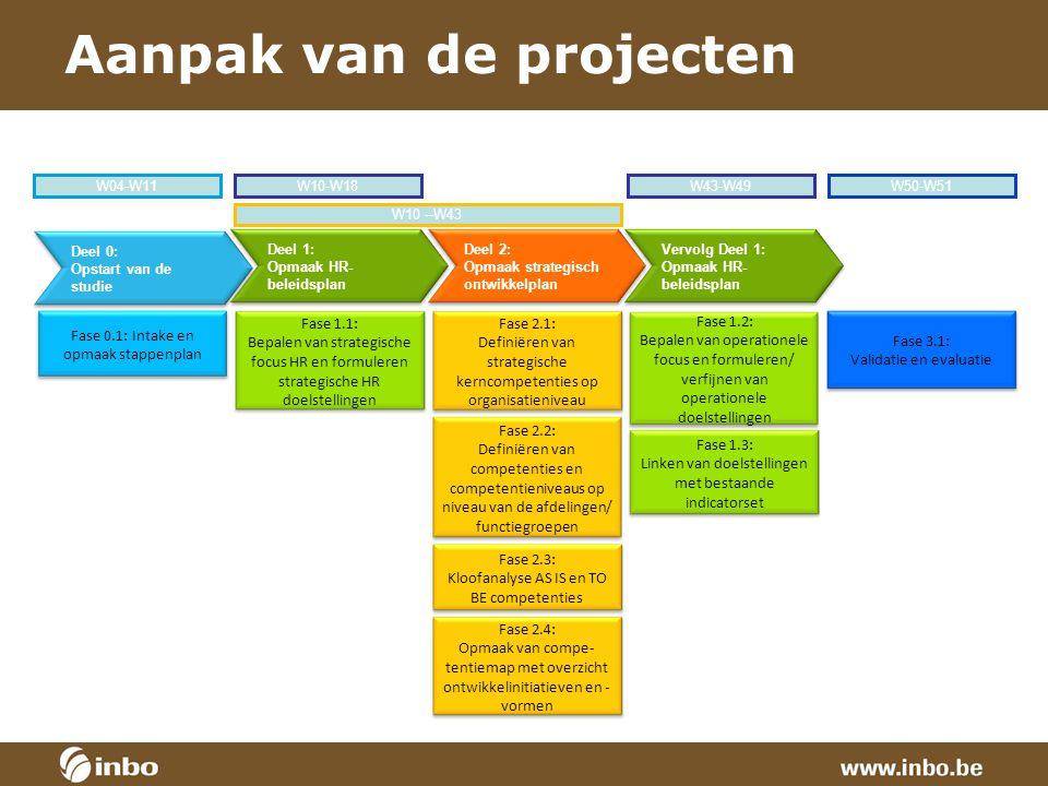 Aanpak van de projecten