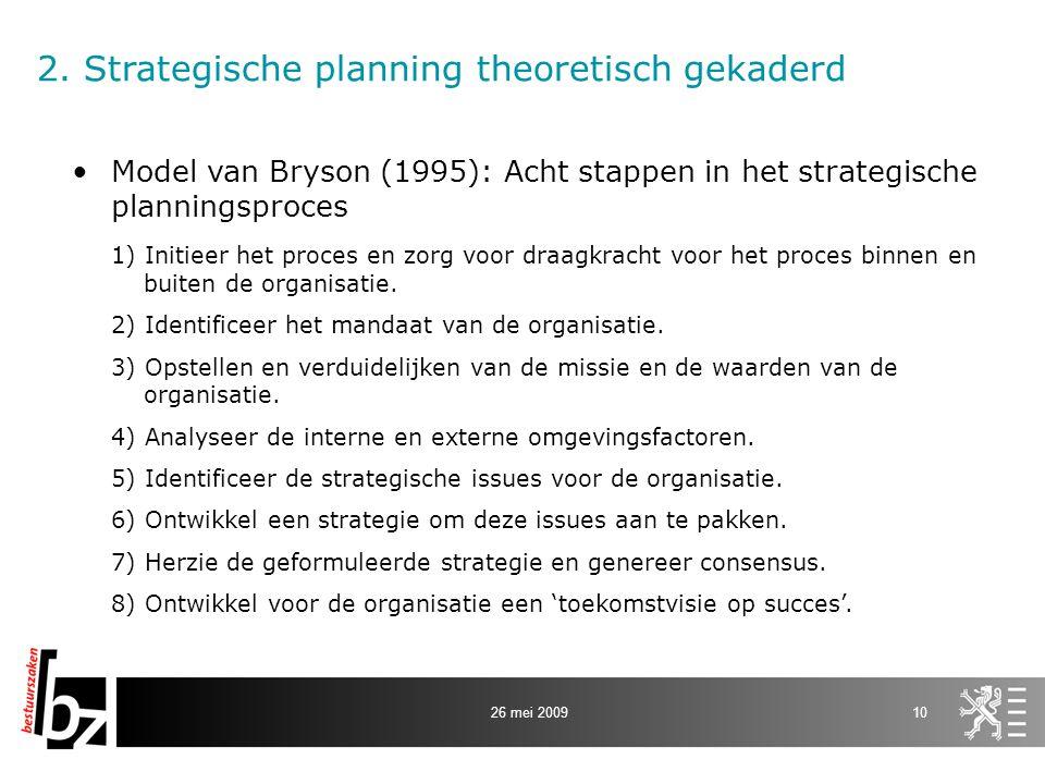 2. Strategische planning theoretisch gekaderd