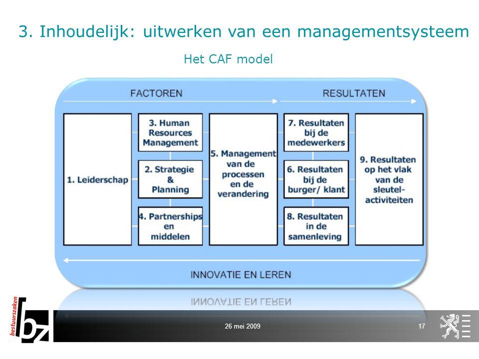 3. Inhoudelijk: uitwerken van een managementsysteem