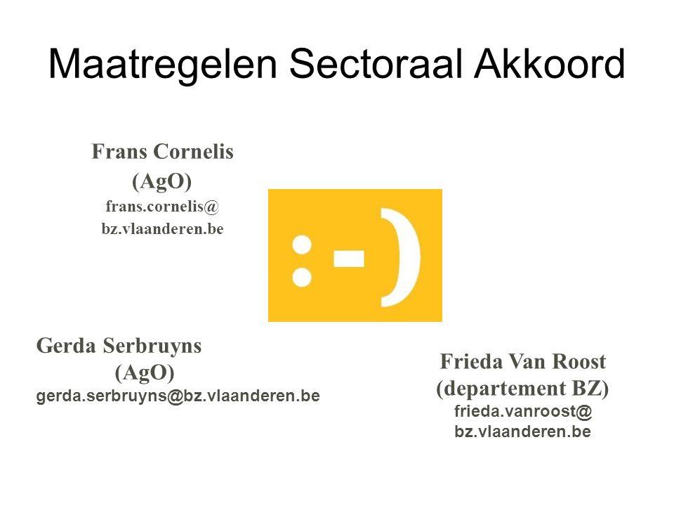 Maatregelen Sectoraal Akkoord