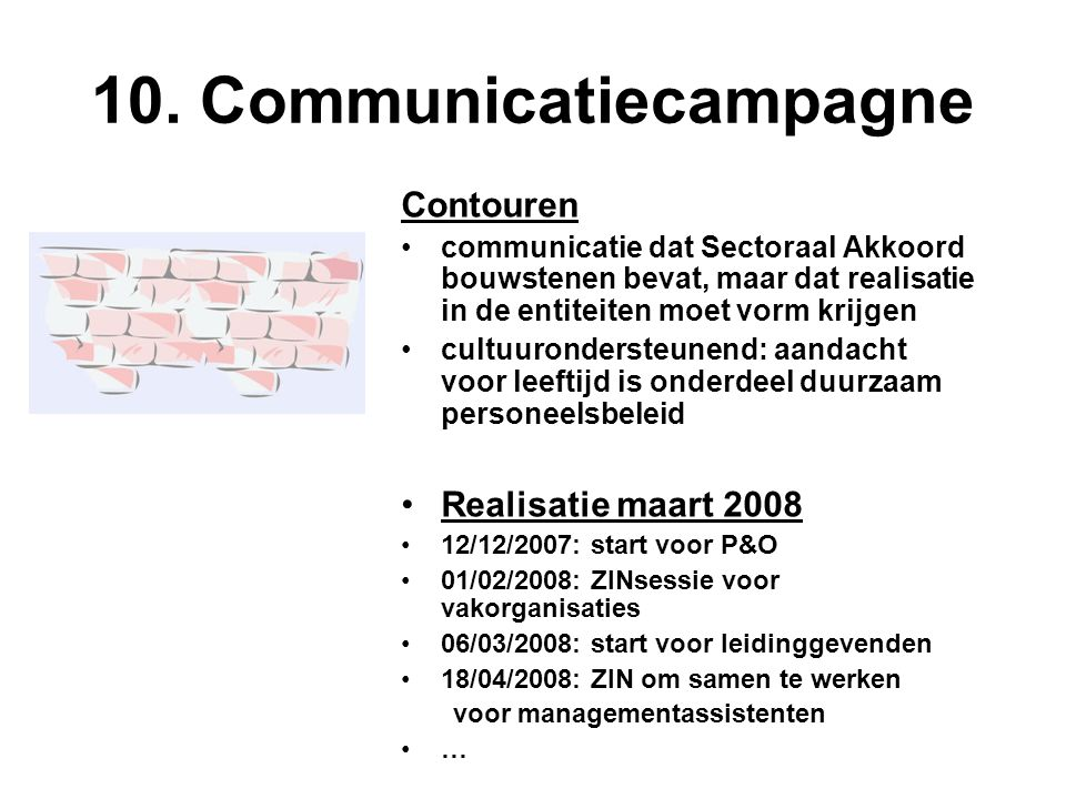 10. Communicatiecampagne