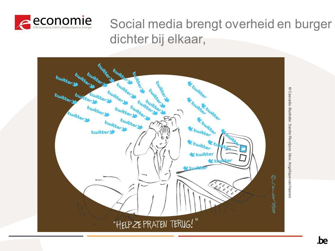 Social media brengt overheid en burger dichter bij elkaar,