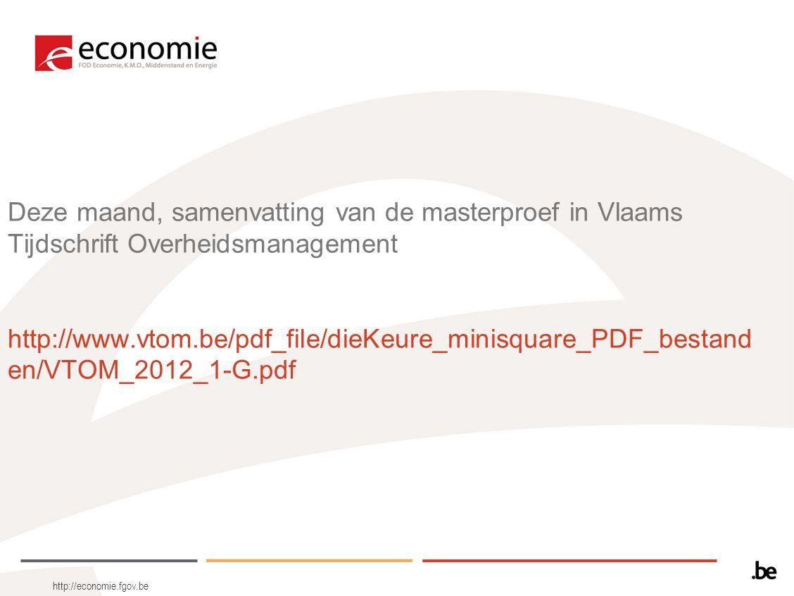 Deze maand, samenvatting van de masterproef in Vlaams Tijdschrift Overheidsmanagement http://www.vtom.be/pdf_file/dieKeure_minisquare_PDF_bestanden/VTOM_2012_1-G.pdf