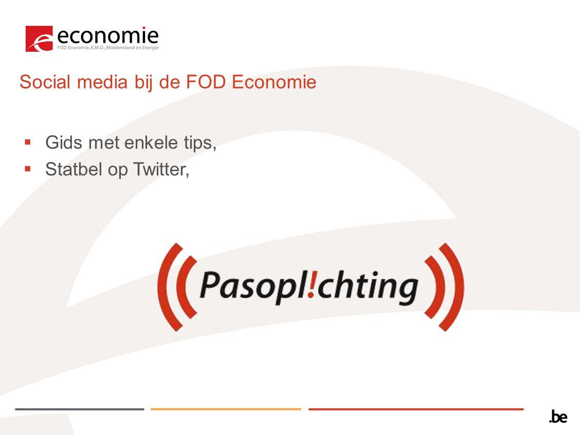 Social media bij de FOD Economie