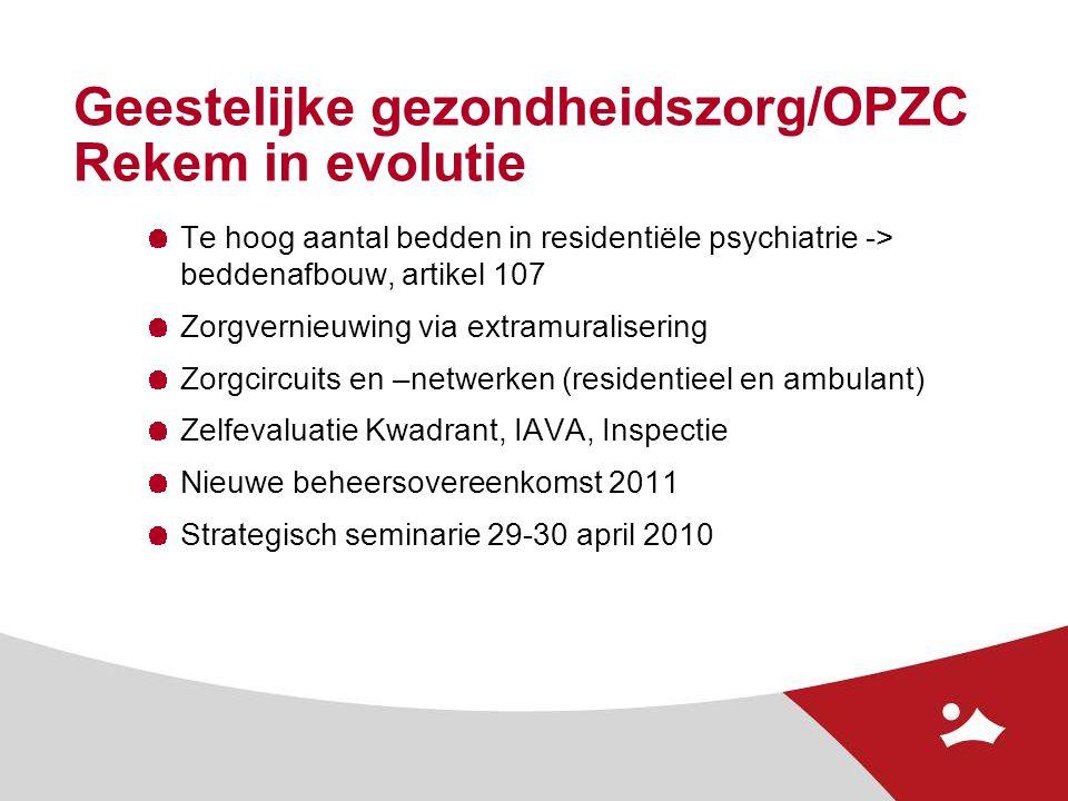 Geestelijke gezondheidszorg/OPZC Rekem in evolutie