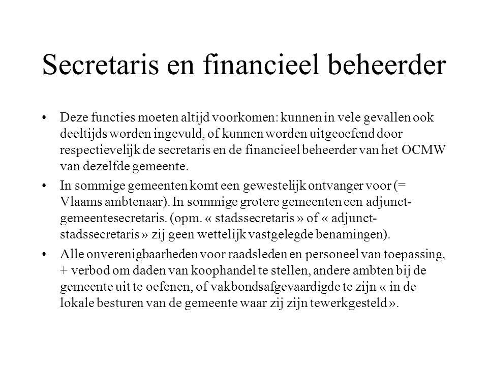 Secretaris en financieel beheerder