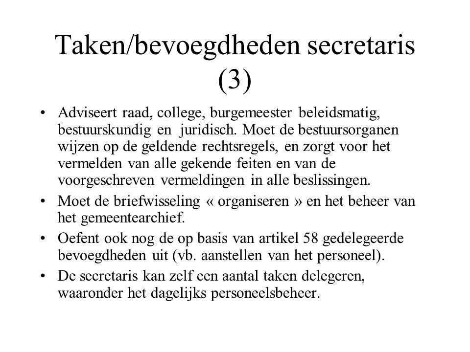 Taken/bevoegdheden secretaris (3)