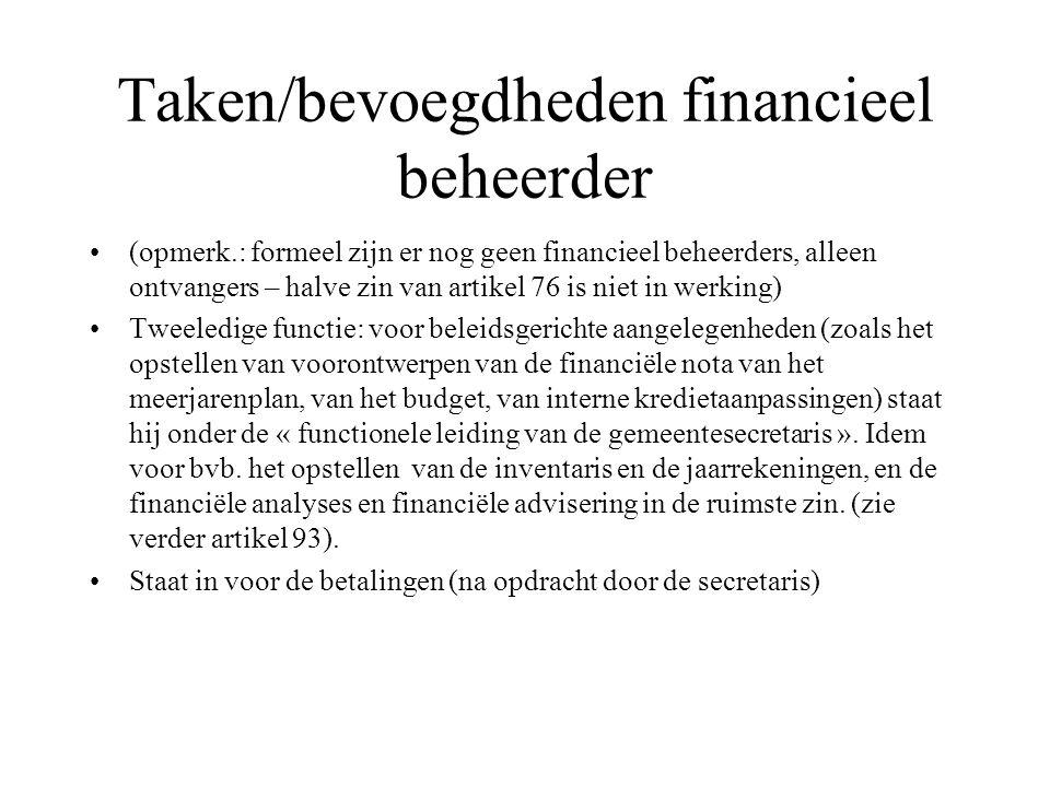 Taken/bevoegdheden financieel beheerder