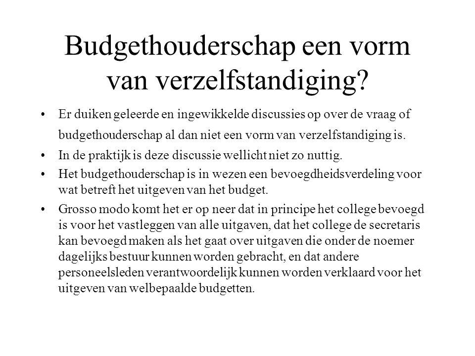 Budgethouderschap een vorm van verzelfstandiging