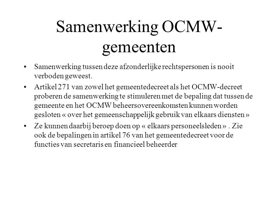 Samenwerking OCMW-gemeenten