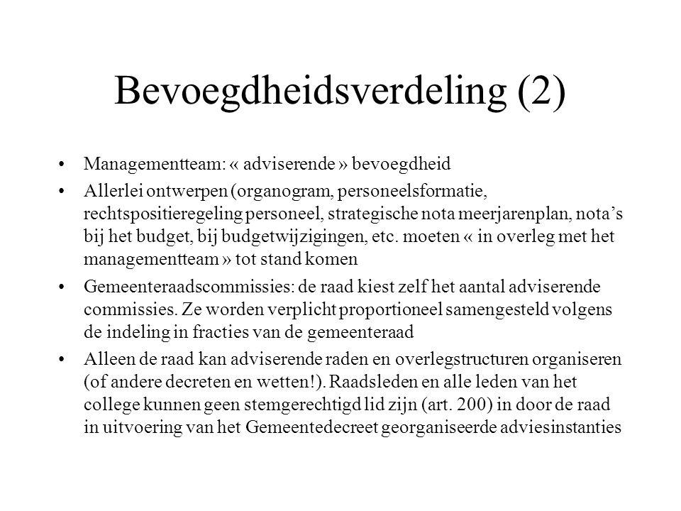 Bevoegdheidsverdeling (2)