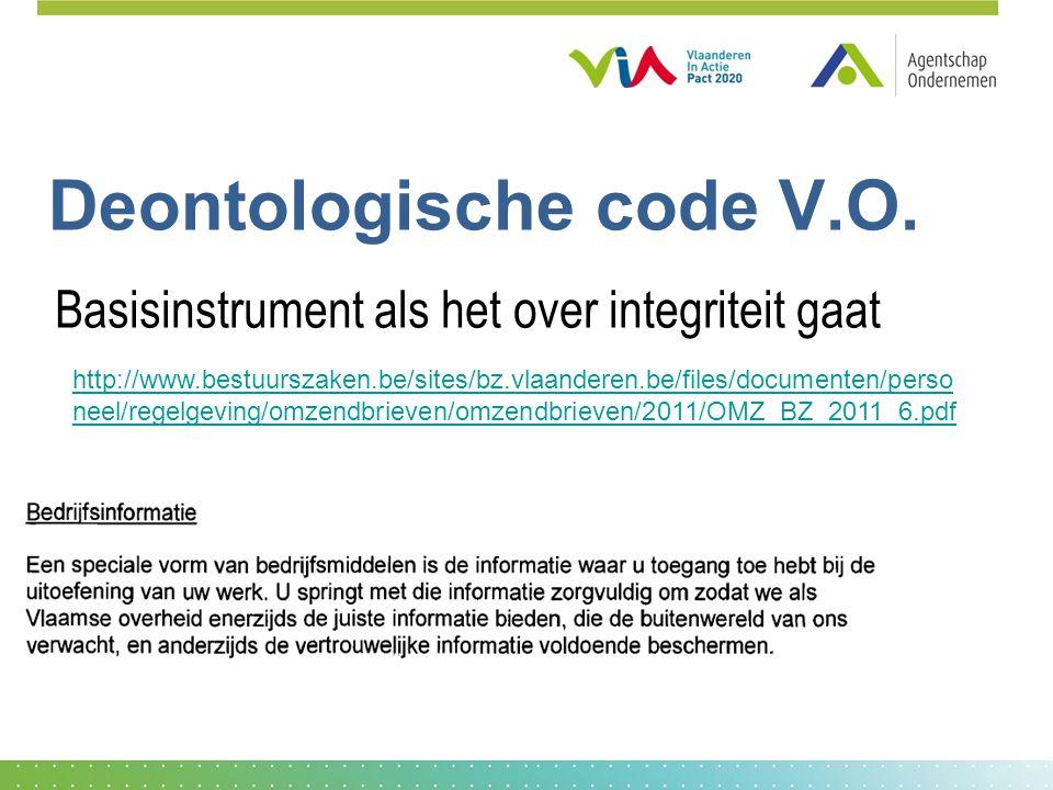 Deontologische code V.O.