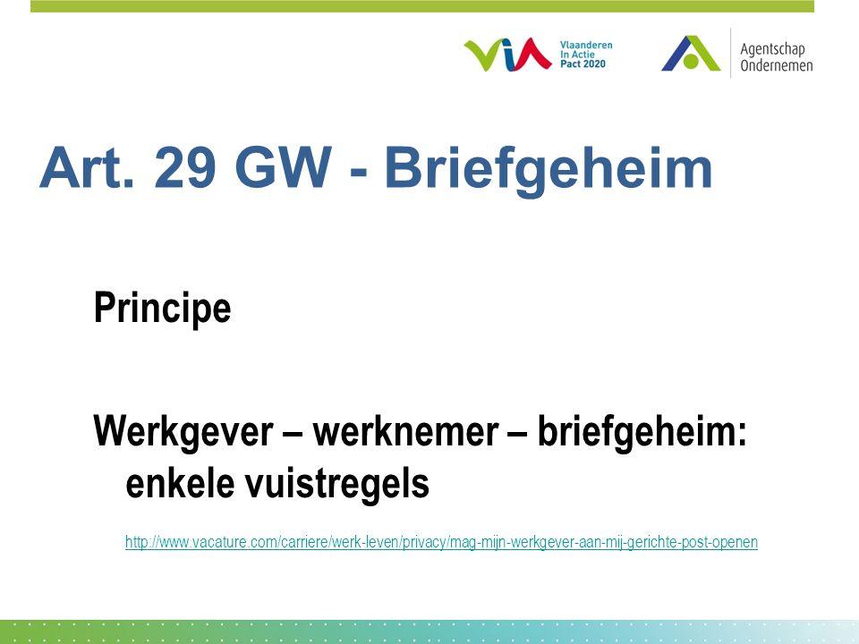 Art. 29 GW - Briefgeheim Principe