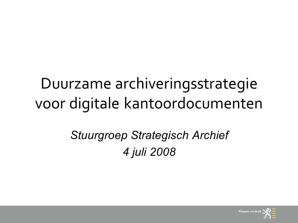 Duurzame archiveringsstrategie voor digitale kantoordocumenten