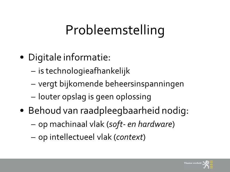 Probleemstelling Digitale informatie: