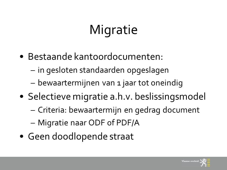Migratie Bestaande kantoordocumenten: