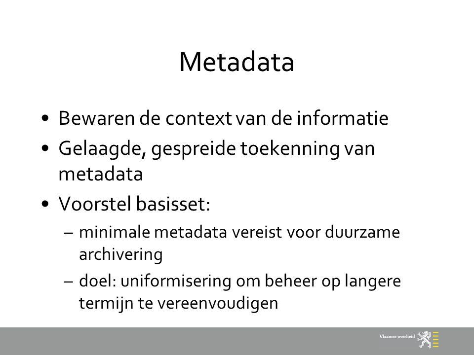 Metadata Bewaren de context van de informatie