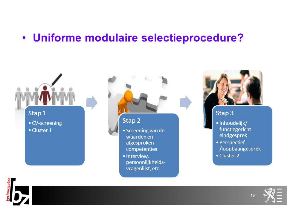 Uniforme modulaire selectieprocedure