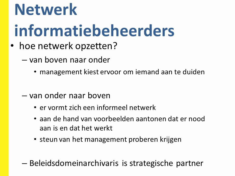 Netwerk informatiebeheerders