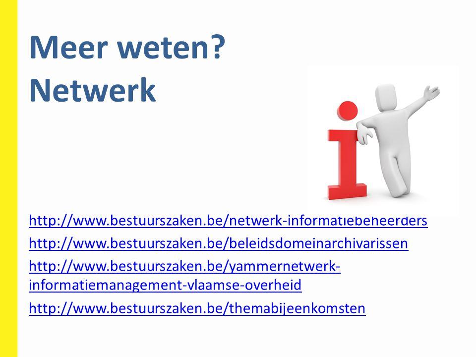 Meer weten Netwerk