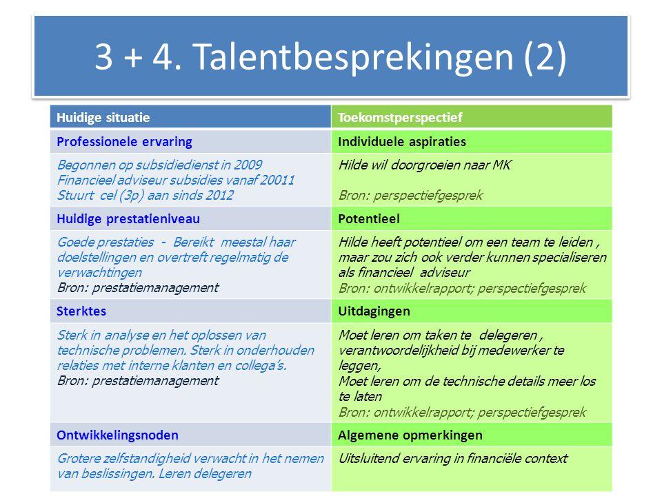 3 + 4. Talentbesprekingen (2)