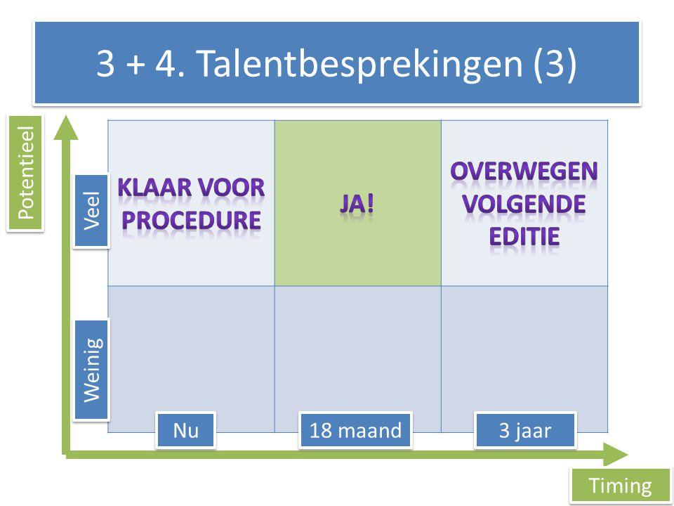 3 + 4. Talentbesprekingen (3)