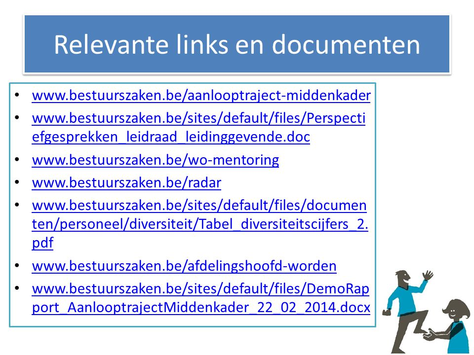Relevante links en documenten