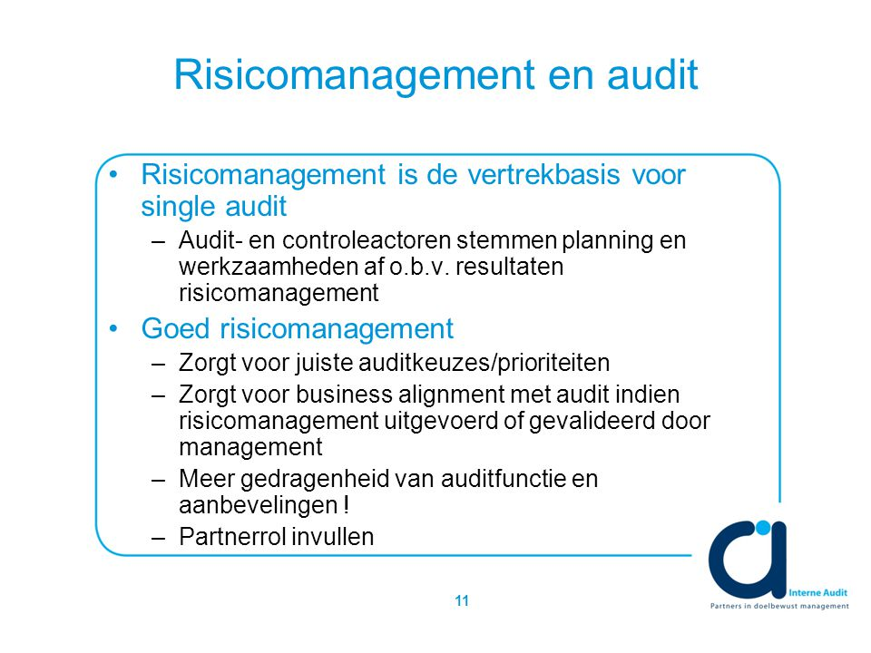 Risicomanagement en audit