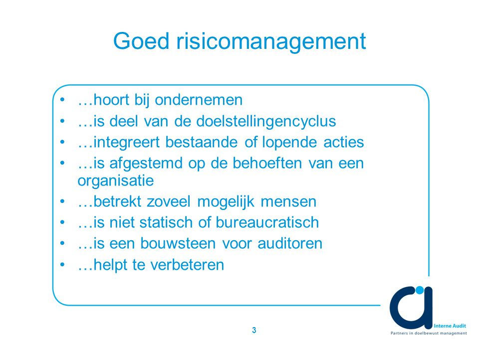Goed risicomanagement