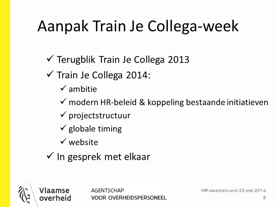 Aanpak Train Je Collega-week