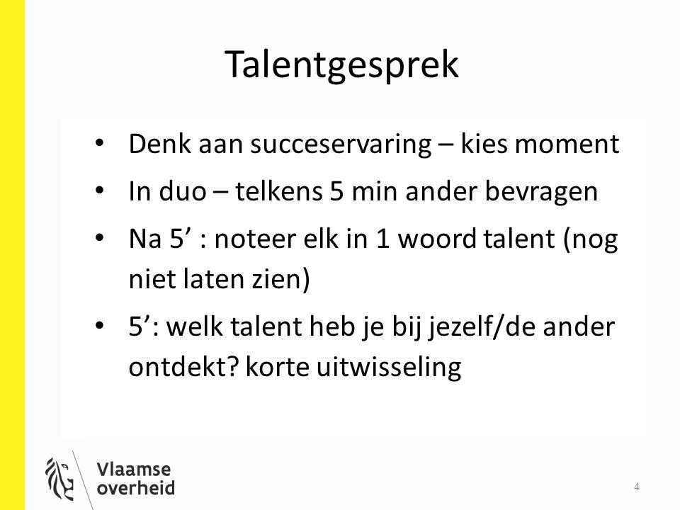 Talentgesprek Denk aan succeservaring – kies moment