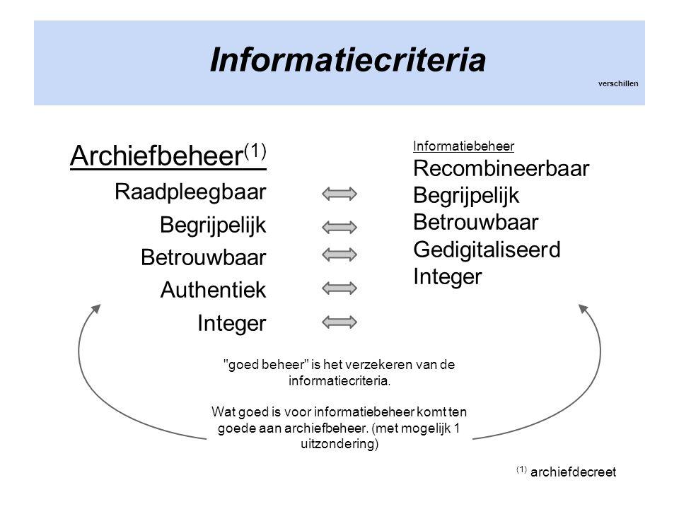Informatiecriteria verschillen