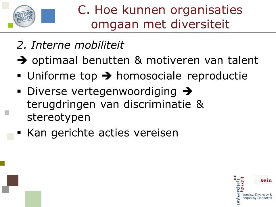 C. Hoe kunnen organisaties omgaan met diversiteit