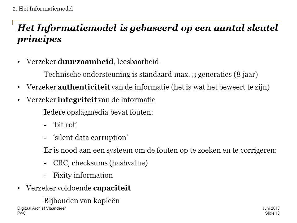 Het Informatiemodel is gebaseerd op een aantal sleutel principes